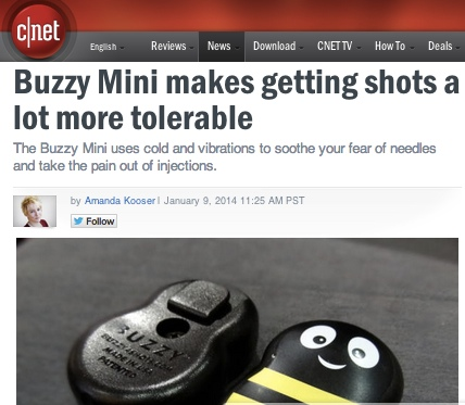 """Buzzy"" Healthcare Technology Makes Shots Quick, Painless and… Fun?"
