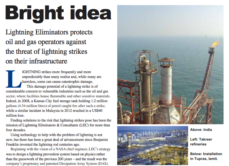 Oil and Gas PR Client LEC In This Month's InnovOil