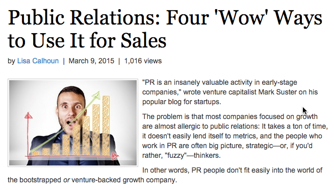 MarketingProfs Features W2M on Connecting Tech PR and Sales