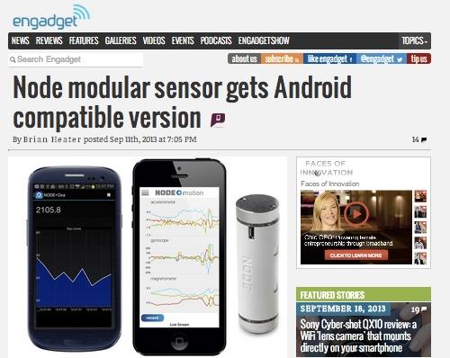Technology Public Relations (PR) Keeps NODE Sensors in the Spotlight