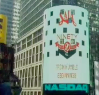 Times Square lights up for Saia's 90th