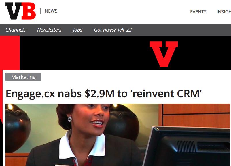 ENGAGE.cx Funding Announcement Makes VentureBeat
