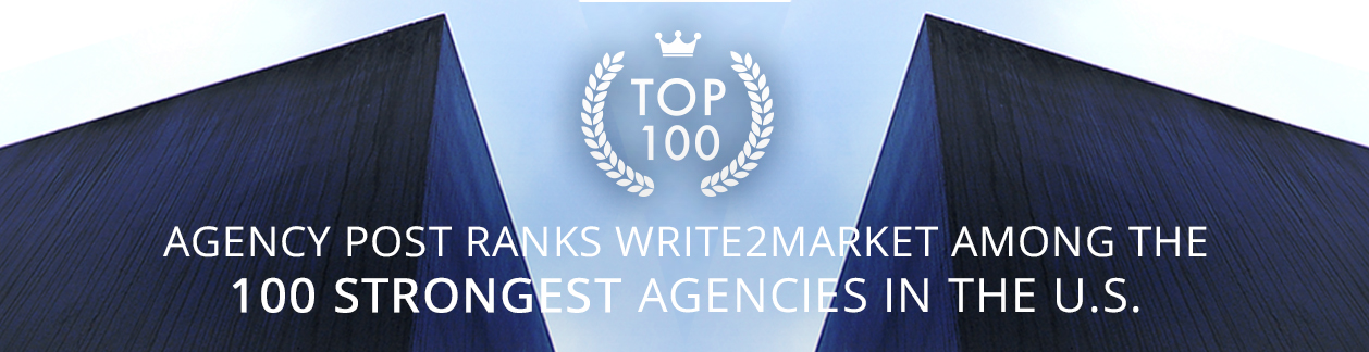Write2Market Honored As Top 10 Agency for Start Ups
