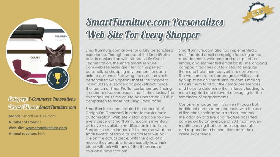 Saks, Lowe's, and Smart Furniture Take Customer Engagement Awards