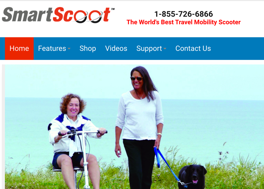 SmartScoot.Com – new eCommerce website for lightest mobility scooter now live!